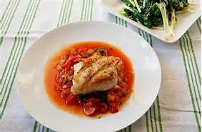 Halibut in Tomato Sauce or Picante