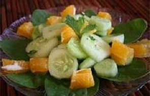 Cucumber Orange Salad w Mint