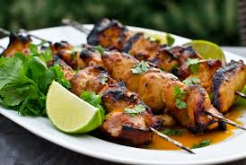Chicken, Garlic Lime, Grilled on Skewers