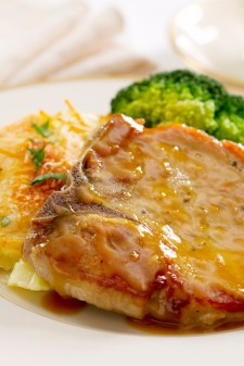 Pork Chops w Orange Glaze
