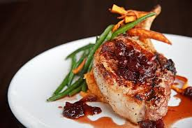 pork chops in cherry sauce