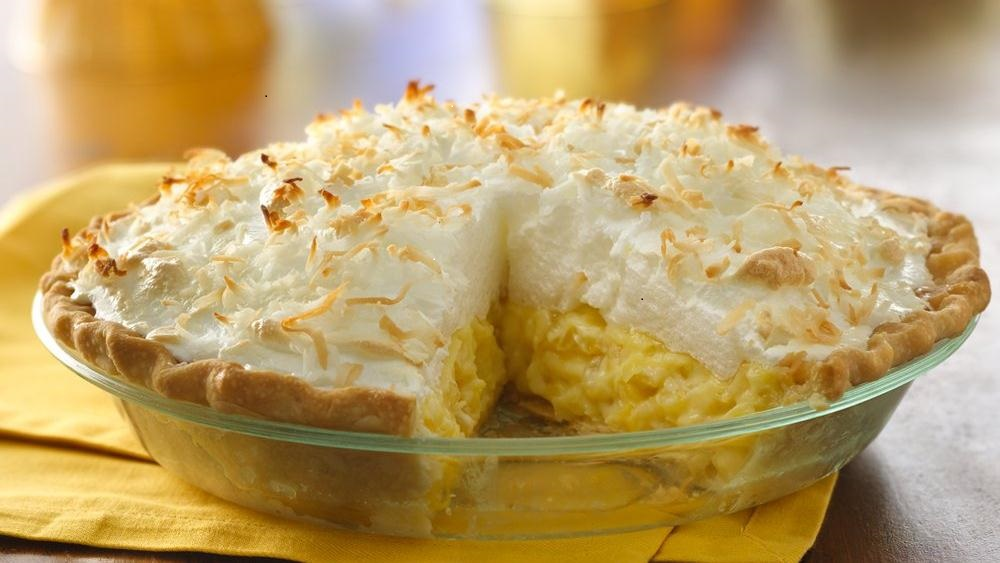 Old Fashioned Pineapple Cream Pie with Meringue